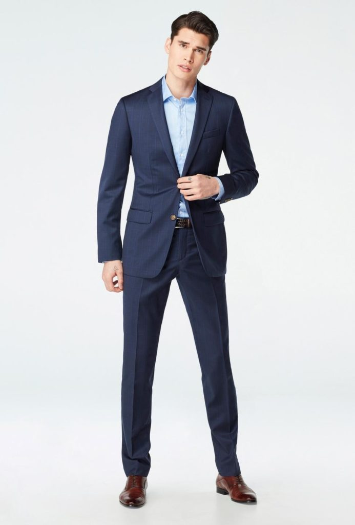 Indochino Hemsworth Prince of Wales Midnight Blue Suit Review