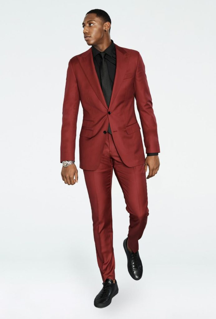 Indochino RJ Solid Red Suit Review