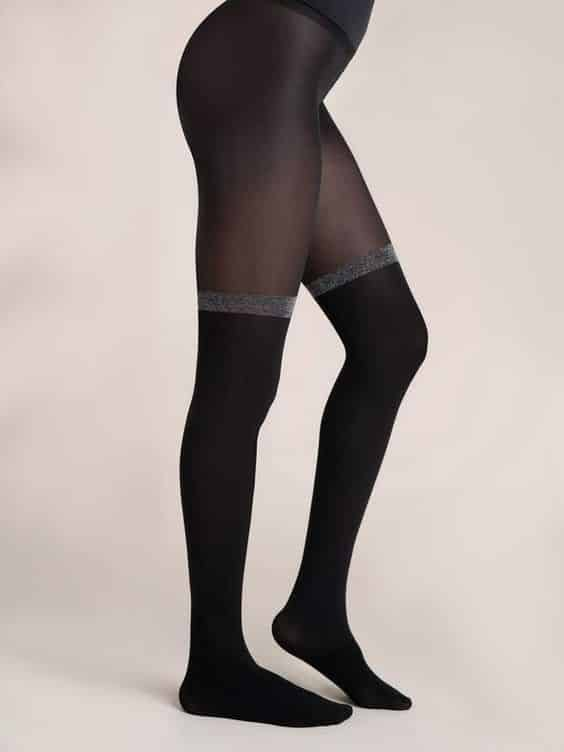 Silver Lining Half & Half Sheer Tights Review