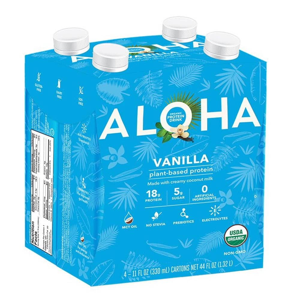 ALOHA Vanilla Protein Drink (Pack of 4) Review