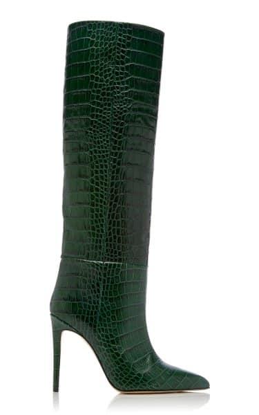 Moda Operandi Paris Texas Croc-Embossed Leather Knee Boots Review