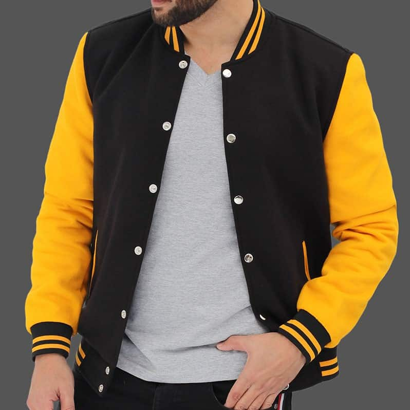 FJackets Black and Yellow Letterman jacket Baseball Style Review