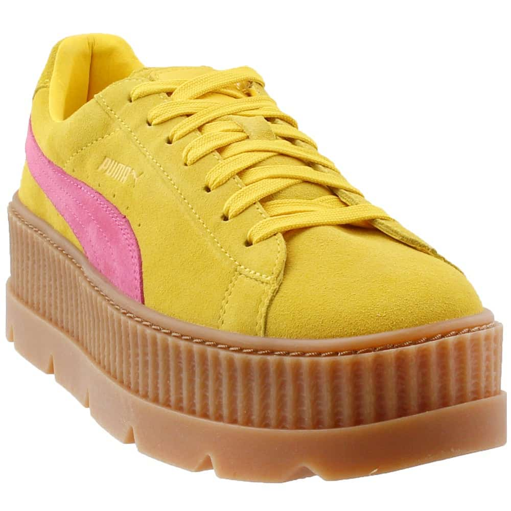 Shoebacca Fenty by Rihanna Suede Cleated Creeper Platform Sneakers Review