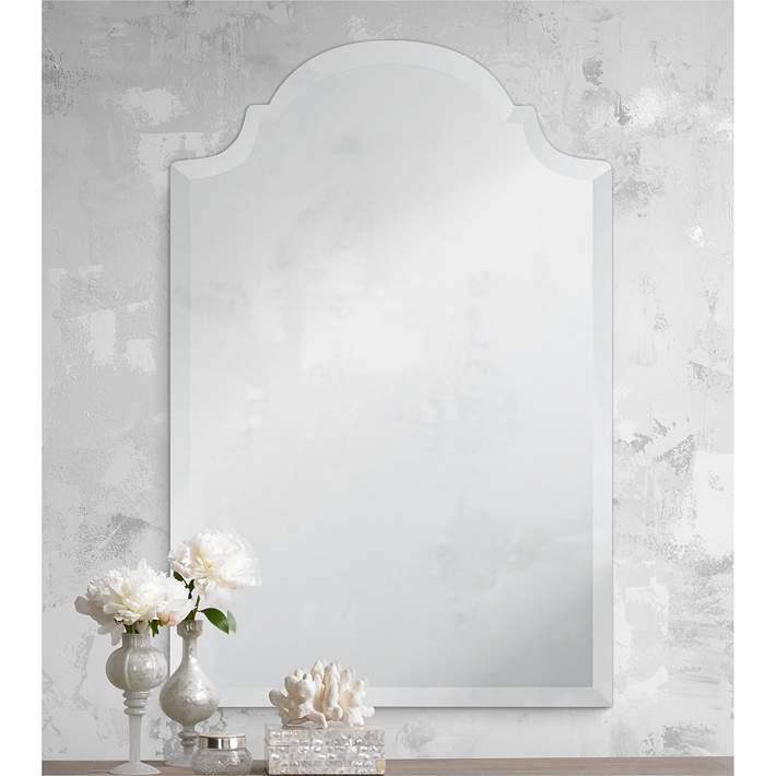 Lamps Plus Adonia Crown Frameless Beveled Wall Mirror Review