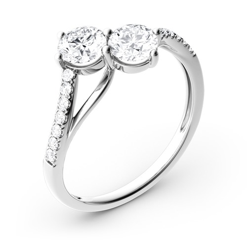 Jeulia Moissanite Two Stone Round Cut Gold Ring Review